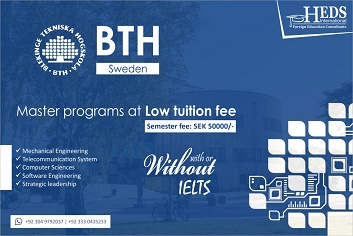 Looking for low tuition fee in Sweden – Yes, we get BTH Sweden