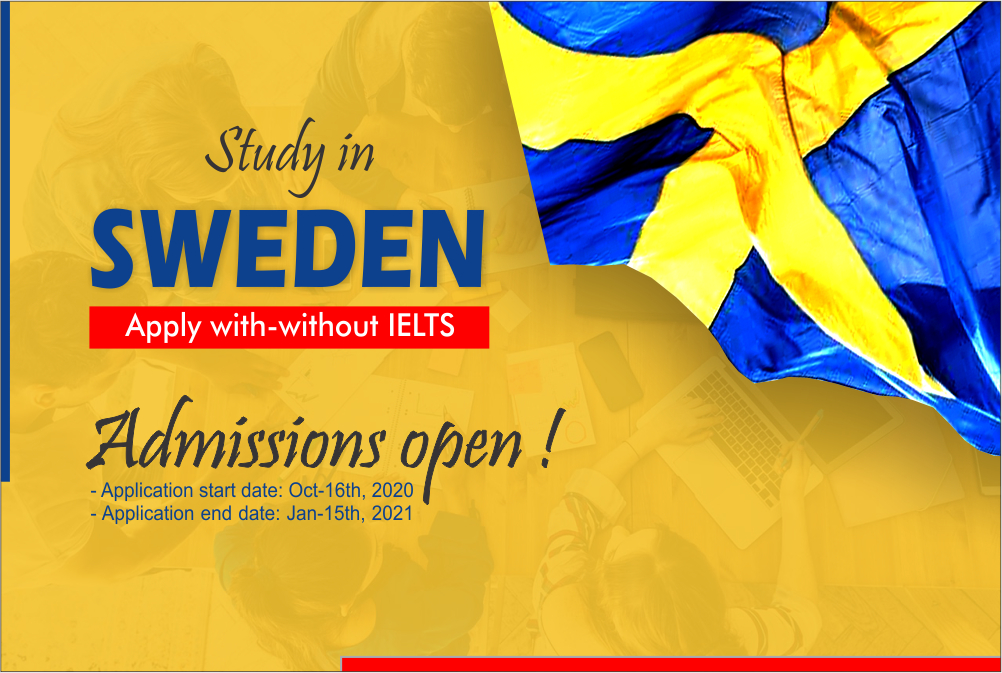 Application period is opened in Sweden for Autumn-2021