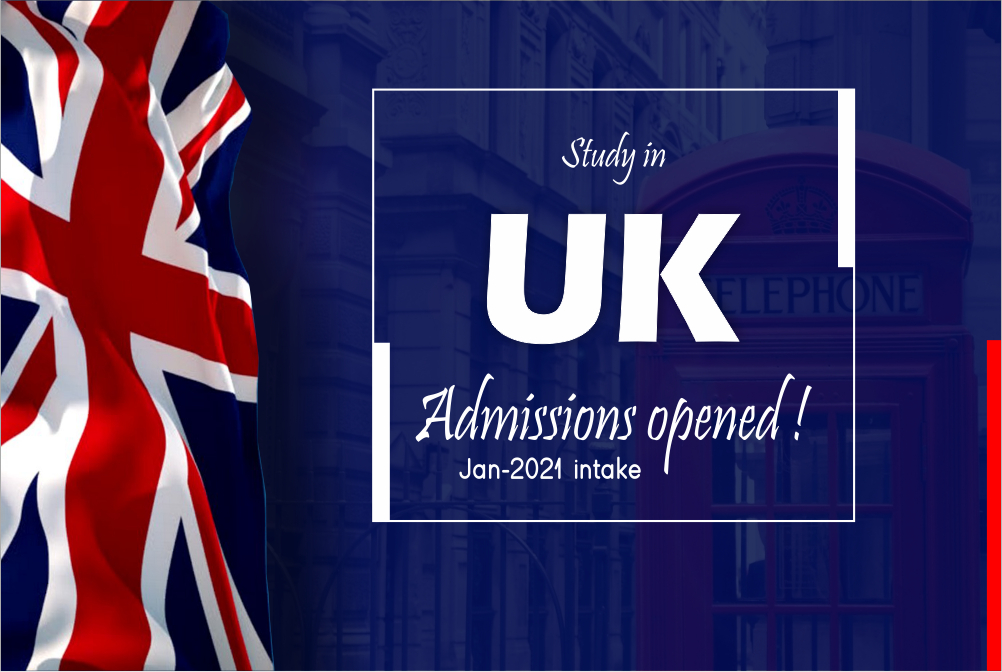 Application period in UK is opened for Jan-2021 intake